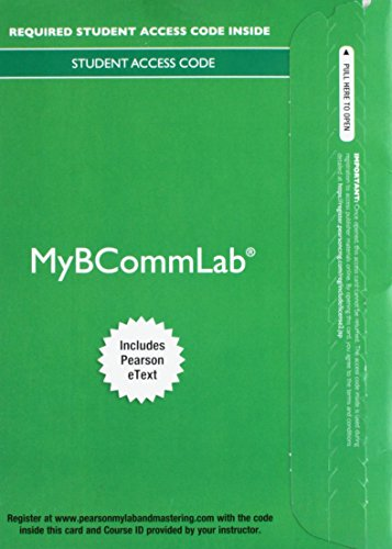 MYBCOMMLAB COMPONENT(1-SEMESTE N/A edition cover