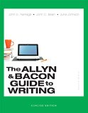 Allyn and Bacon Guide to Writing, Concise Edition Plus MyWritingLab -- Access Card Package  7th 2015 edition cover