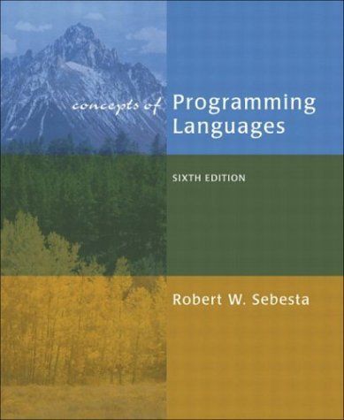 Concepts of Programming Languages  6th 2004 edition cover