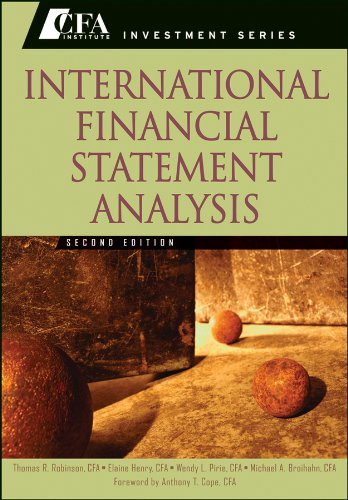 International Financial Statement Analysis  2nd 2012 edition cover