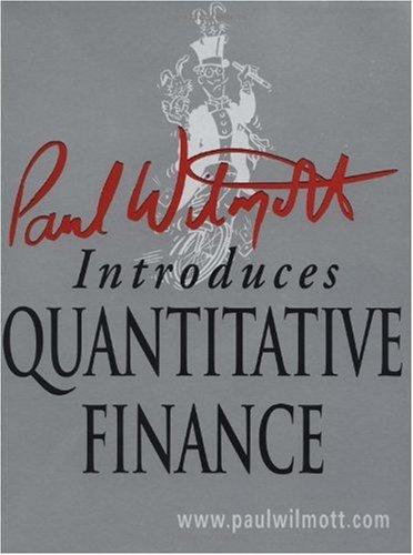 Paul Wilmott Introduces Quantitative Finance  2nd 2001 edition cover