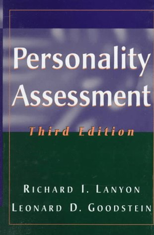 Personality Assessment  3rd 1996 (Revised) 9780471555629 Front Cover