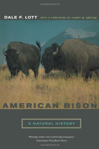 American Bison A Natural History  2003 edition cover