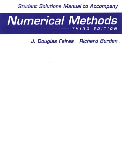 Numerical Methods  3rd 2003 9780534407629 Front Cover