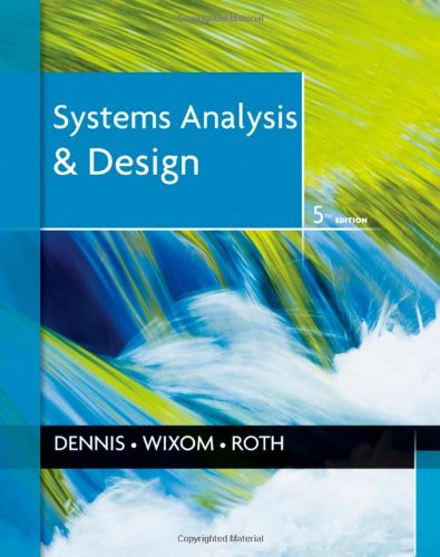 Systems Analysis and Design  5th 2012 edition cover
