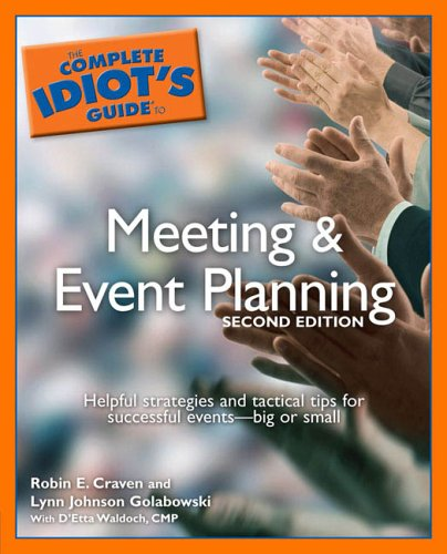Meeting and Event Planning - Complete Idiot's Guide  2nd 2006 edition cover