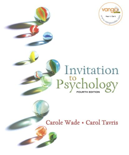 Invitation to Psychology  4th 2008 edition cover