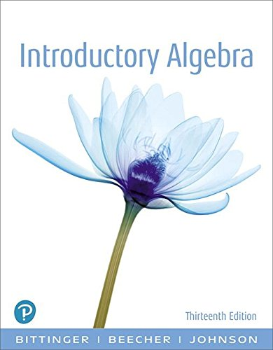 Introductory Algebra  13th 2019 9780134689630 Front Cover