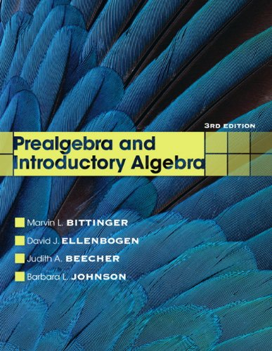 Prealgebra and Introductory Algebra  3rd 2012 (Revised) 9780321731630 Front Cover