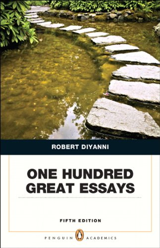 One Hundred Great Essays  5th 2013 edition cover