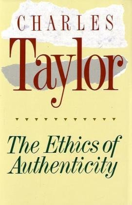 Ethics of Authenticity   1991 edition cover