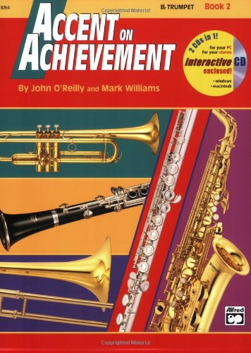 Accent on Achievement, Bk 2 B-Flat Trumpet, Book and CD  1998 edition cover