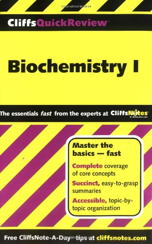 CliffsQuickReview Biochemistry I   2000 edition cover