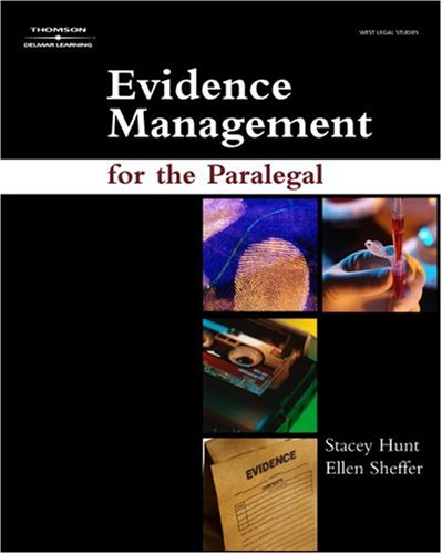 Evidence Management for the Paralegal   2008 edition cover