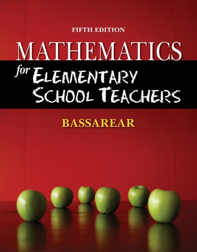 Mathematics for Elementary School Teachers  5th 2012 9780840054630 Front Cover