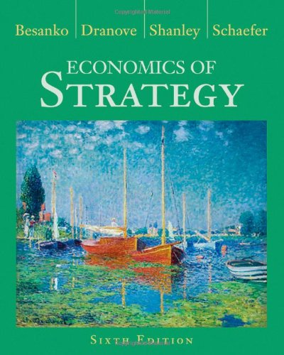 Economics of Strategy  6th 2013 edition cover