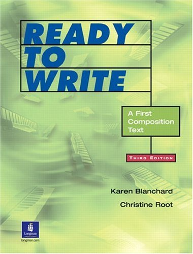 Ready to Write A First Composition Text 3rd 2003 edition cover