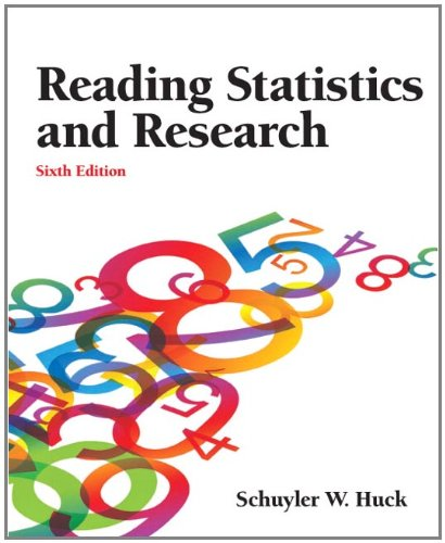 Reading Statistics and Research  6th 2012 (Revised) edition cover
