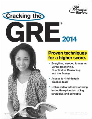 Cracking the GRE 2014  N/A edition cover