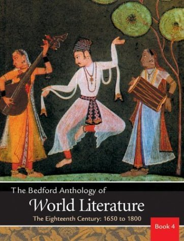 Bedford Anthology of World Literature The Eighteenth Century, 1650-1800  2003 edition cover