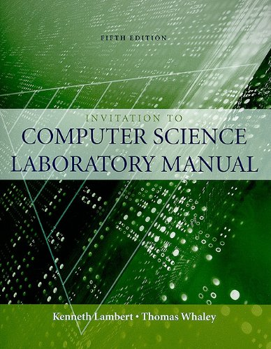 Invitation to Computer Science  5th 2010 (Lab Manual) edition cover