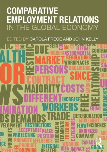 Comparative Employment Relations In the Global Economy  2013 edition cover