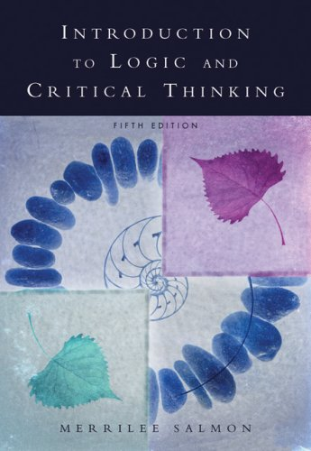 Introduction to Logic and Critical Thinking  5th 2007 (Revised) 9780534626631 Front Cover