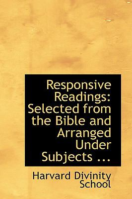 Responsive Readings: Selected from the Bible and Arranged Under Subjects  2008 edition cover