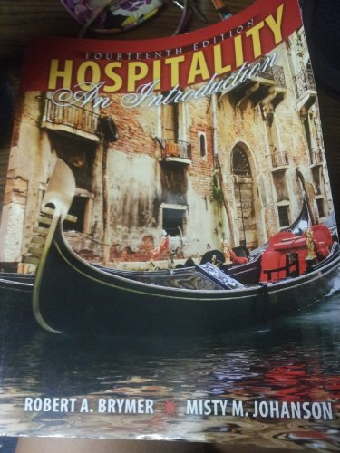 Hospitality An Introduction 14th (Revised) edition cover