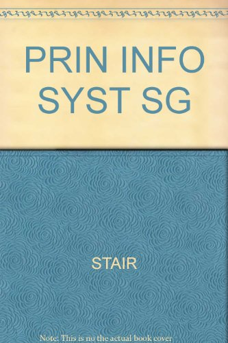 Prin Info Syst Sg  1998 9780760049631 Front Cover