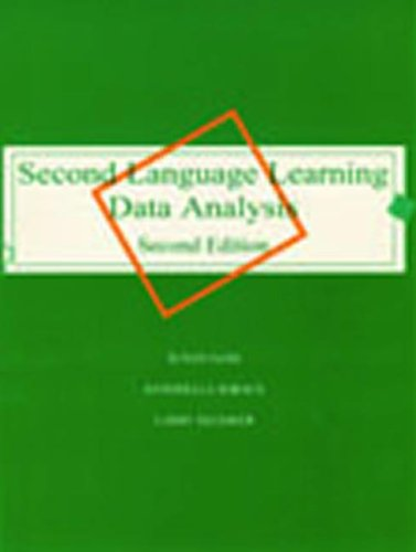 Second Language Learning Data Analysis  2nd 1998 (Revised) edition cover