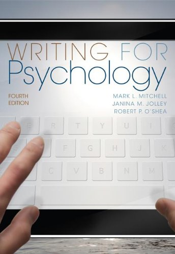 Writing for Psychology  4th 2013 edition cover