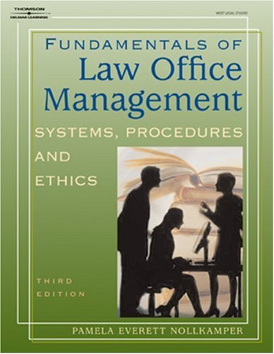 Fundamentals of Law Office Management  3rd 2004 (Revised) 9781401824631 Front Cover