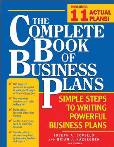 Complete Book of Business Plans  2nd 2006 (Revised) edition cover