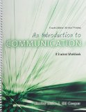 Introduction to Communication A Student Workbook 4th (Revised) edition cover