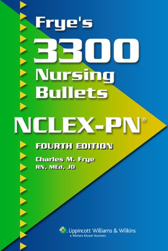 Frye's 3300 Nursing Bullets for NCLEX-PN�  4th 2007 (Revised) edition cover