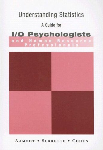 Understanding Statistics A Guide for I/O Psychologists and Human Resource Professionals 5th 2007 edition cover