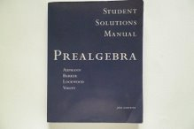 Prealgebra Student Solutions Manual : Used with ... Aufmann-Prealgebra 3rd 2002 (Student Manual, Study Guide, etc.) 9780618121632 Front Cover