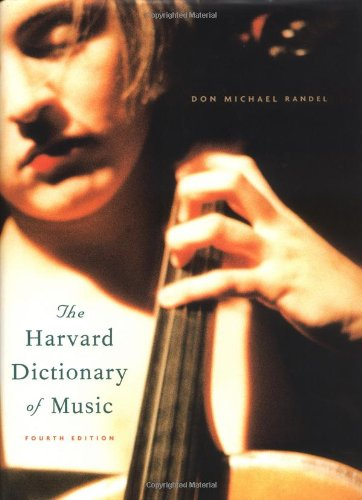 New Harvard Dictionary of Music  4th 2003 edition cover