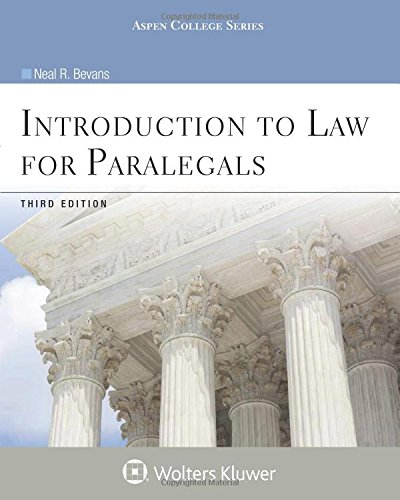 Introduction to Law for Paralegals  8th (Revised) edition cover