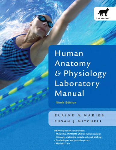 Human Anatomy and Physiology Lab Manual, Cat Version  9th 2008 (Revised) edition cover