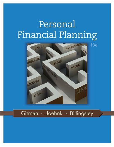 Personal Financial Planning  13th 2014 9781111971632 Front Cover