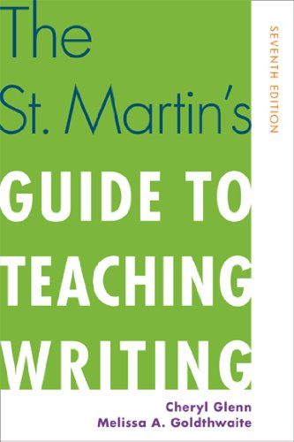 The St. Martin's Guide to Teaching Writing:   2013 edition cover