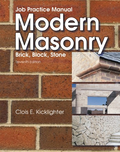 Modern Masonry : Job Pratice Manual 6th 2003 9781566379632 Front Cover