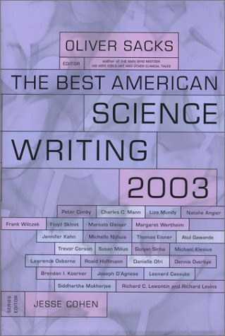 Best American Science Writing 2003   2003 9780066211633 Front Cover