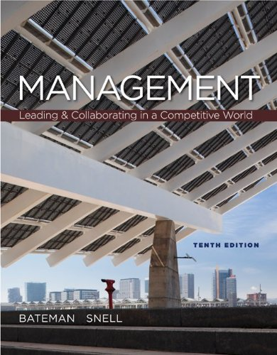 Loose-Leaf Management: Leading and Collaborating in the Competitive World  10th 2013 edition cover