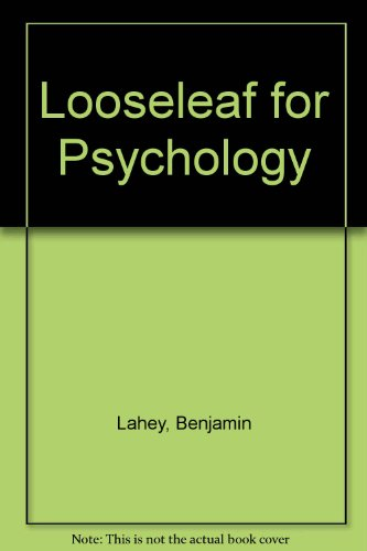 Looseleaf for Psychology  11th 2012 9780077606633 Front Cover