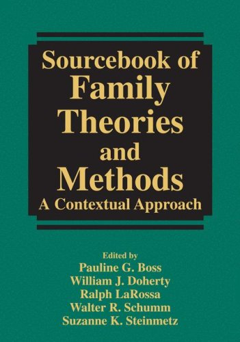 Sourcebook of Family Theories and Methods A Contextual Approach  1993 edition cover