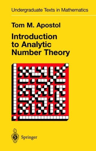 Introduction to Analytic Number Theory   1976 edition cover