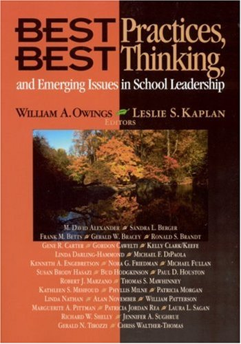 Best Practices, Best Thinking, and Emerging Issues in School Leadership   2003 9780761978633 Front Cover